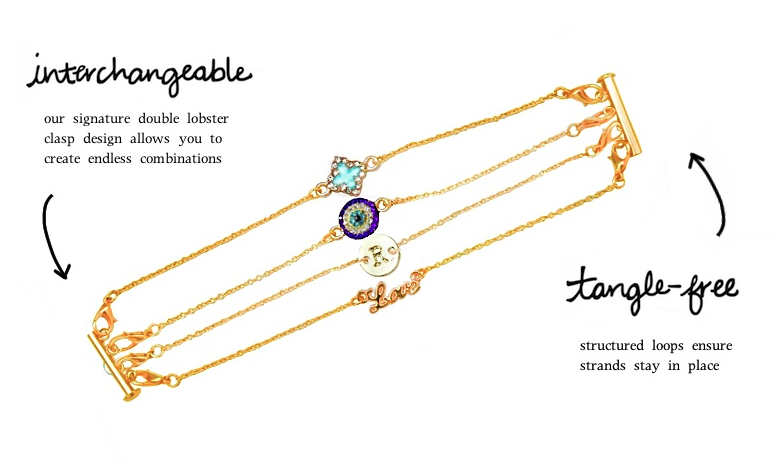 Luna Marin Tangle Free, Interchangeable Jewelry