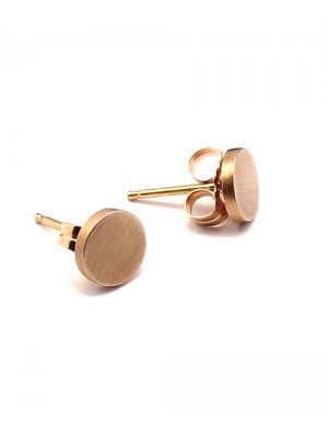 Mini Disc Stud Earrings