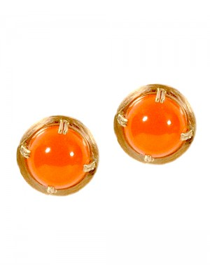 Cabochon Carnelian Earrings